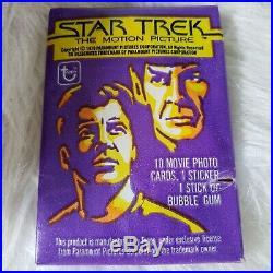1979 Topps Star Trek Trading Cards in original box 22 Unopened Wax Packs Mint