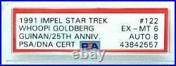 1991 IMPEL Star Trek WHOOPI GOLDBERG Signed Auto GUINAN Card SLABBED PSA/DNA