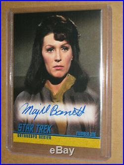 2005 Star Trek Tos Original Majel Barrett Auto Autograph Card A120 Number One