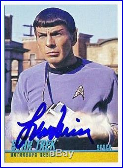 2009 Star Trek The Original Series TOS Leonard Nimoy Autograph Auto VL #A193 QTY