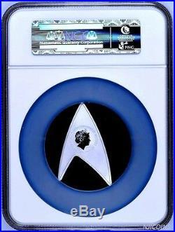 2016 Star Trek The Original Series 50th Ann 1oz Silver Proof DELTA Coin NGC PF69