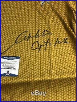 Autographed William Shatner Star Trek Shirt Insc Capt Kirk JSA Signed