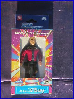 Bandai German 1993 Star trek Next Gen Picard Figure sealed in Original Box