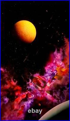 Comet Shower 1 Original Reverse Glass Painting By Star Trek Artist Dave Archer