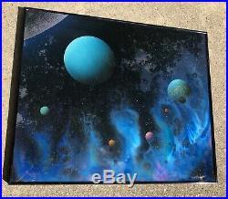 DAVE ARCHER SIGNED REVERSE GLASS Painting Gentle Nebula 1984 STAR TREK ART