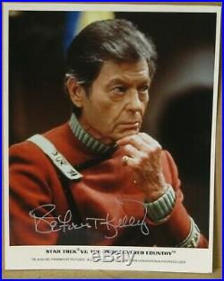 DeForest Kelley Original Star Trek VI Signed Autographed 8 x 10 Color Photo CoA