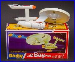 Dinky 358 Star Trek U. S. S. Enterprise. Mint in Card Box. 1976 Original