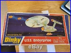 Dinky toys 358 USS Enterprise die cast model near mint original with box