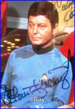 Framed Star Trek Original Crew Photograph Signed by Cast Members LE 235/2500 COA