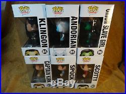 Funko Pop Star Trek Original Lot Of 6 81-86 Kirk, Spock, Scotty, Klingon etc