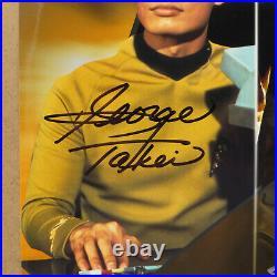 GEORGE TAKEI and JOHN CHO Star Trek Heroes Signed 8x10 Photo as Sulu +JSA COA