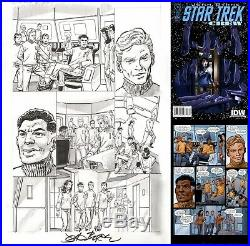 John Byrne Signed Original Art Page Star Trek Crew 3 IDW Majel Barrett Number 1