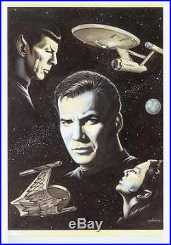 KERRY GAMMILL original Star Trek fanzine art signed Kirk & Spock 1979