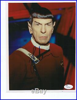 LEONARD NIMOY SIGNED 8X10 JSA STAR TREK Spock