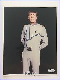 Leonard Nimoy Signed 8x10 Jsa Coa Autograph Photo Star Trek William Shatner