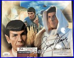 Leonard Nimoy Signed 8x10 Star Trek Photo. JSA COA