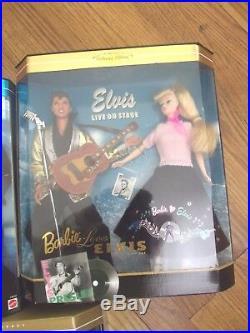 Lot of 3 BARBIE LOVES ELVIS GIFT SET Collector Ed 1996 -XFiles Star TRek