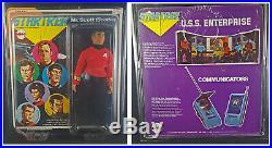 Lot of 6 Carded Star Trek 1974 Mego figures ORIGINAL in ZoloWorld plastic cases