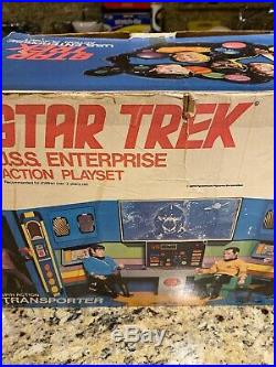 MEGO 1975 STAR TREK USS Enterprise Bridge Playset IN ORIGINAL BOX PLUS 4 FIGURES