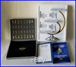 New Star Trek Tridimensional 3d Chess Set Original 1994 Franklin