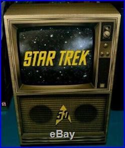 Nib-vina Star Trek 50th Anniversary Barbie Doll-gold Label-green Alien Comic-con