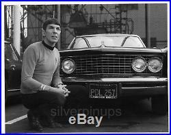 Orig'67 LEONARD NIMOY as Spock. Candid STAR TREK Buick Riviera DESILU STUDIO'S