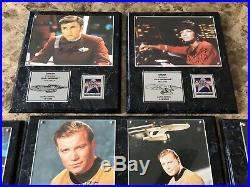 Original Star Trek Enterprise Crew Signed Autograph Limited #ed Plaque Lot & COA