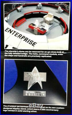 Original Star Trek Franklin Mint Enterprise Deluxe White Metal-Mint Box (FM-06)