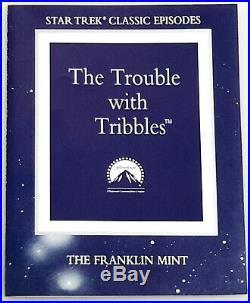 Original Star Trek Franklin Mint Trouble with Tribbles Sculpture (FM-17)