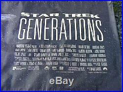 Original Star Trek Generations Film Poster Banner 8 Feet By 3 Feet