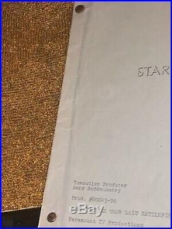 Original Star Trek Production Script (Gene Roddenberrys)