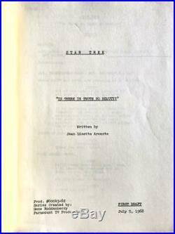 Original first-draft script & outline for Star Trek The Original Series 1968