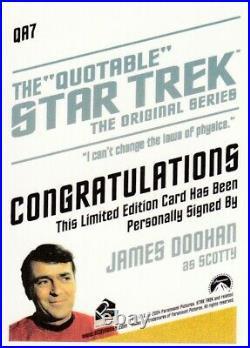Quotable Star Trek Original Series Autograph Card QA7 James Doohan as SCOTTY