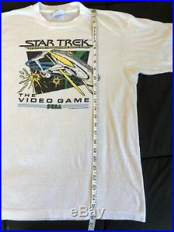 RARE Vintage 80s Sega Star Trek Video Game T Shirt XL Comic Classic Old School
