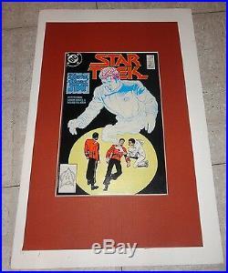 STAR TREK #53 Death of Kirk ORIGINAL COVER ART 1988 signed WILLIAM SHATNER