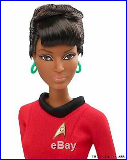 STAR TREK Barbie KIRK, SPOCK & UHURA Bundle of ALL THREE Black Label Figures