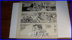 STAR TREK COMIC STRIP ORIGINAL ART, 10 strips on vellum, from APRIL 1983
