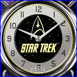 STAR TREK Cuckoo Clock With Sound, Motion & Original Series Crew NEW Bradford