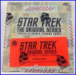 STAR TREK Original PORTFOLIO PRINTS Sealed Rittenhouse Trading Card ARCHIVE BOX