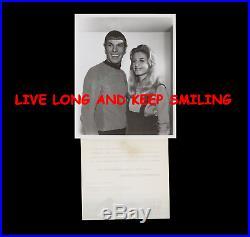 STAR TREK SMILING SPOCK NBC TV 8x10 WITH RARE ORIGINAL 1967 PRESS RELEASE