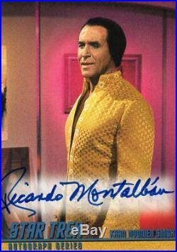 STAR TREK (TOS) The Original Series Autograph Card A17 Ricardo Montalban KHAN