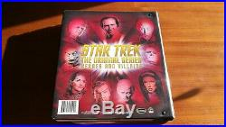 STAR TREK TOS The Original Series Heroes & Villains Rittenhouse binder & cards