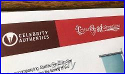 Star Trek (2009) Screen Used Film Prop Sign with COA & Zachary Quinto Autograph
