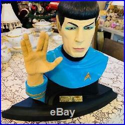 Star Trek Commander Spock Bust/Statue Illusive Originals, 127 of 7,500. Mint