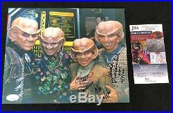 Star Trek Deep Space Nine Ferengi Signed 8x10 Photo JSA COA Quark Nog Rom Moogie