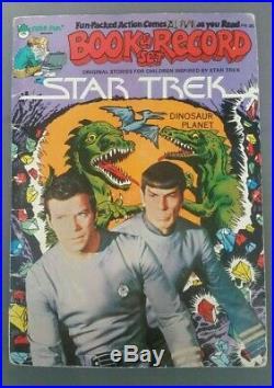 Star Trek Dinosaur Planet original art 1979 STUNNING ENTERPRISE SPLASH Spock