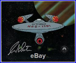 Star Trek Filmation U. S. S. Enterprise Seri-Cel 1995 Signed by William Shatner