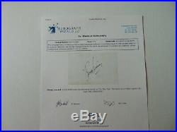 Star Trek Leonard Nimoy Hand Signed 4X6 Card Autograph World COA