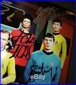Star Trek Original 7 Cast Signed Photo COA William Shatner Leonard Nimoy