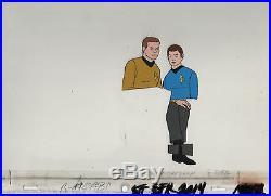 Star Trek Original Production Animation Cel Kirk and McCoy